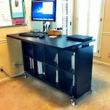 Another Expedit Standing Desk with CDs as risers