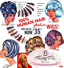 creative vine wig hair color in the 1950s and 1960s included blue purple and aqua