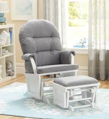 bedroom furniture shermag aiden glider ottoman set white with grey nursery rocking chair slipcover nursery