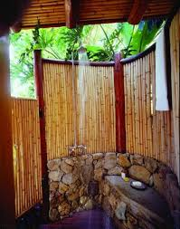 make yourself an outdoor shower imagine how relaxing it is to bathe in the comfort of your own backyard with bamboo you can create a stunning privacy