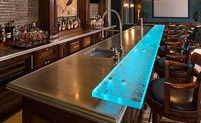 create your own glass bar top