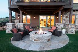image of patio firepit table