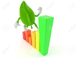 Leaf Stock Chart Stock Illustration