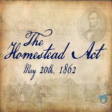 「1862, lincoln signed Homestead Act」の画像検索結果