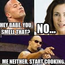Memes Vault The Rock Memes Cooking via Relatably.com