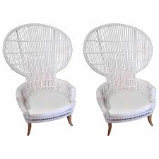 super dramatic and large wicker fan chairs for
