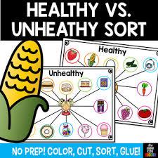 Healthy Vs Unhealthy Food Chart Healthy Unhealthy Foods