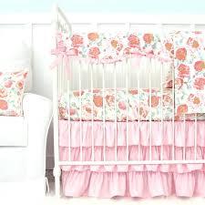 fl crib blanket fl crib rail cover lane baby bedding pink vintage navy sets watercolor sweet
