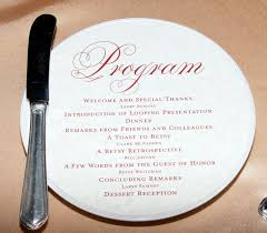 Dinner Program Templates Retirement Party Agenda Examples Retirement Dinner Program Agenda