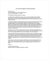 Scholarship Recommendation Letter Sample Sarahepps Com