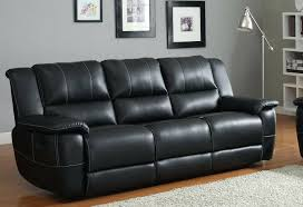 Black Leather Sectional Sofa With Recliner Black Leather Recliner Sofa And Chair Black Bonded Leather