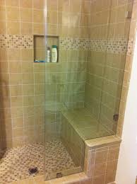 Tile Shower With Bench Seat And Shampoo Niche Yelp Shower Bench Seat