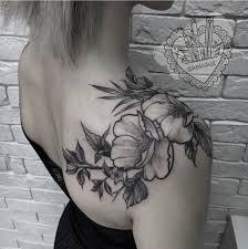Flowers Peony Green Tattoo Botanica Girl Beauty Hand Tattoo