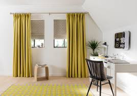Image Grey Curtains Houzz Roman Blinds And Curtains Transitional Home Office
