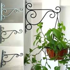 plant hanger hooks iron wall hanging bracket art holder hook home garden decoration outdoor