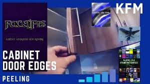 Cabinet Doors Thermofoil Edges Peeling Inexpensive Quick Easy Repair