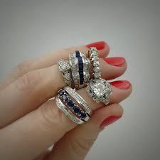 estate jewelry nyc art deco enement ring art deco sapphire platinum rings reverie vine antique jewelry