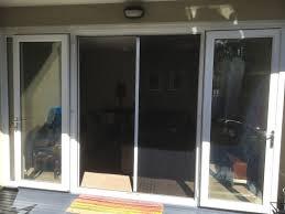 retractable fly screen on french doors half open