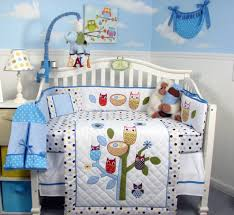 owl baby boy crib bedding sets