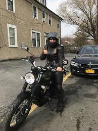 jennifer pietrzyk her triumph street scrambler babes ride out