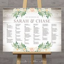 Poster Seating Charts For Wedding Receptions Rustic Seating Charts For Weddings Chart Ideas Poster