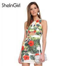 New Summer Style Tropical Floral Print Floor Length Bohemian Dresses  Sexy V Neck Slim Alibaba Wholesale