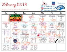 Student Services Monthly Calendar And Activities Poster At Albertus