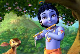 Little Krishna Cartoon Wallpaper HD ...