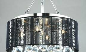 drum and crystal chandelier black shade pendant light bk endearing with crystals mariella 4 antique coppe drum and crystal chandelier shade