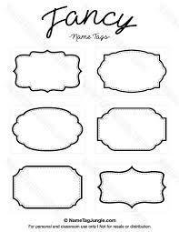 name tag template free printable free printable fancy name tags the template can also be used for