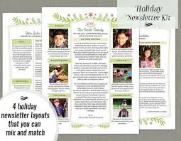 free holiday newsletter template free download sample holiday newsletter template gold elegant
