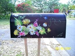 painted mailbox designs. Sightly Mailbox Painting Ideas Mailboxes Painted Hand Post . Designs I