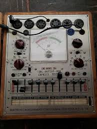 Vintage Emc 205 Tube Tester With Roll Chart Tested Against