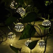 lighting outdoor solar net lights unique modern home solar led string lights moroccan metal globe