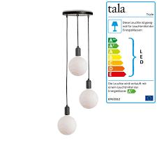 tala triple pendant light set connox