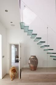 stupendous minimalist house with stair wall decor using floating staircase