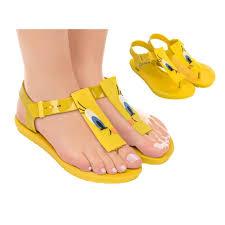 Zaxy Size Chart Zaxy Looney Tunes Yellow Fantasy Print Flat Finger Sandals