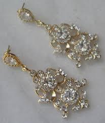 chandler earrings rhinestone chandelier bridal gold crystal jose maria barrera view larger kay engagement rings vera