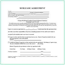 Sublease Form Sublease Agreement Template Ontario Template Resume