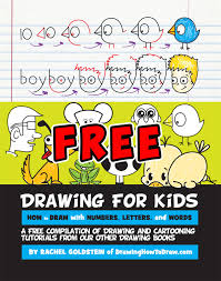 free drawing activity book for kids preers kindergartners and children of all ages
