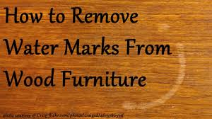 remove water marks from wood furniture