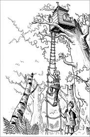 Small Picture A Girl Climbing a Treehouse Coloring Page A Girl Climbing a