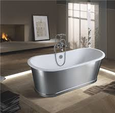 china double end freestanding enamel cast iron bathtub with stainless steel sw 1012b china freestanding enamel cast iron bathtubs enamel cast iron