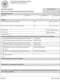 vehicle inspection advisor texas