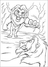 Fighting With Scar Coloring Page Free Printable Coloring Pages