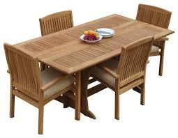 5 piece outdoor teak dining set 69