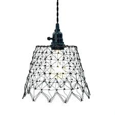 en wire pendant lamp free how to hang a light with cord rustic wall hanging shade