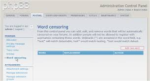 word censoring in phpbb kualo limited