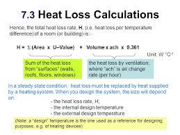 7 3 heat loss calculations