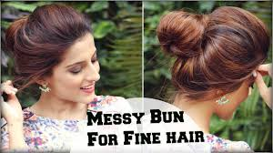 Simple Hairstyles For College 2 Min Easy Everyday Top Messy Bun Hairstyle For Fine Thin Hair